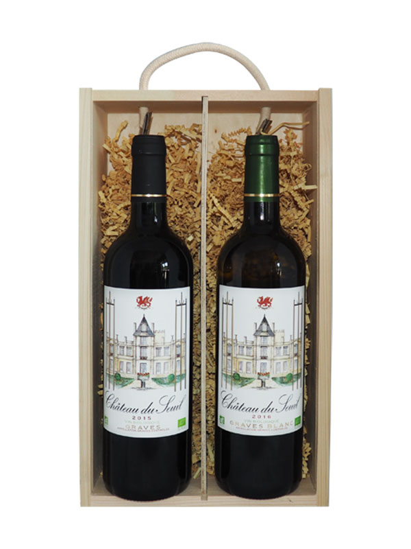 Chateau Du Seuil Graves Rouge & Blanc (Gift Boxed)